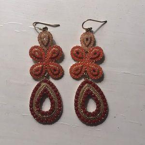 Stella & Dot - coral earrings
